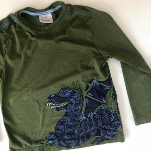 Hanna Andersson Dragon Applique Shirt (Boys 5T)